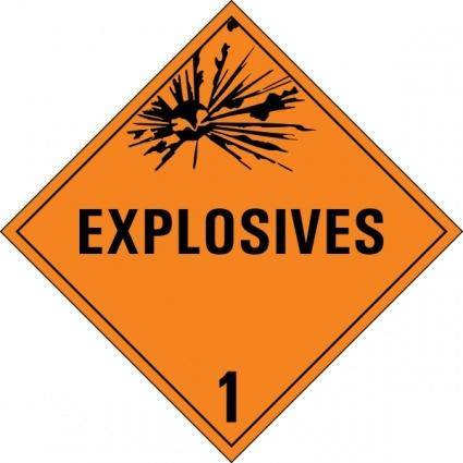 Class 1 Danger Sign clip art