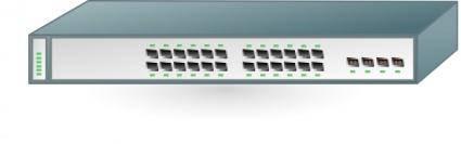 free vector Cisco Network Switch clip art