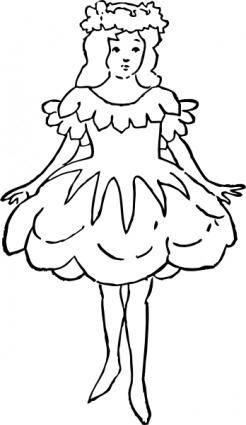 Rose Girl clip art