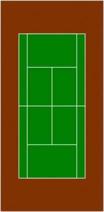free vector Tennis Court clip art