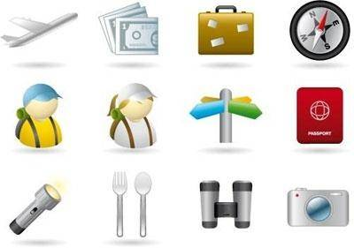 free vector Handy Icons  Vacations & Travel