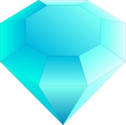 Blue Cut Gemstone (saphire) clip art