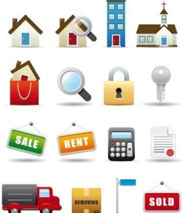 free vector Real Estate Icon Set