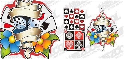free vector Poker element vector material