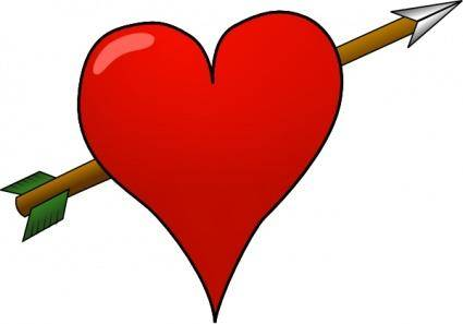 Heart-arrow clip art