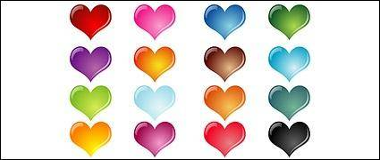 free vector Colorful heart-shaped crystal effect