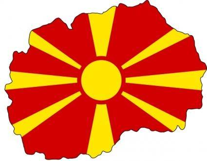 Flag Map Of Fyr Macedonia clip art