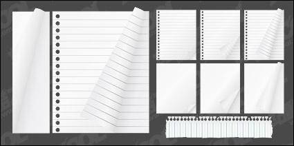 free vector Notepad paper material