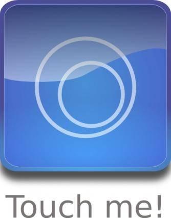 Aqua Button clip art