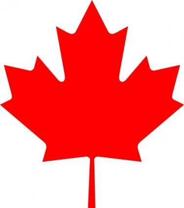 free vector Flag Of Canada Leaf clip art