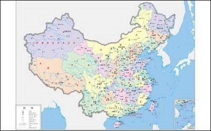 free vector China maps (four-color) vector