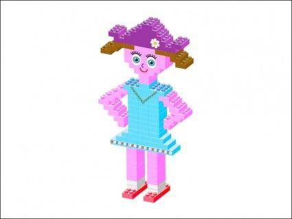 free vector Plastic Brick Girl