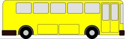 free vector Yellow Bus clip art