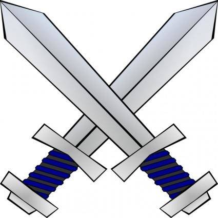 free vector Crossed Swords clip art