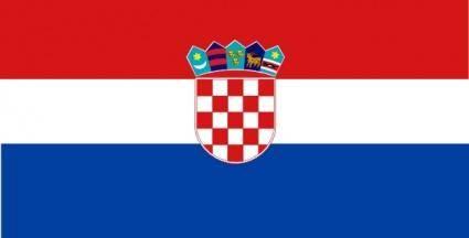 Flag Of Croatia clip art