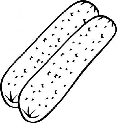 Breakfast Sausage (b And W) clip art
