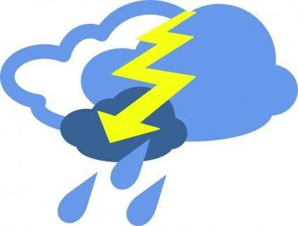 Severe Thunder Storms Weather Symbol clip art