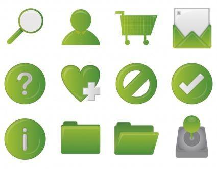 free vector Green icon set rounded heart help Kiwi Flavored!