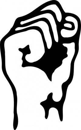A Raised Fist clip art