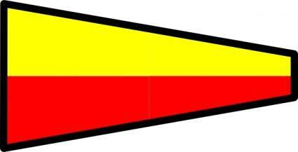 free vector International Maritime Signal Flag 7 clip art
