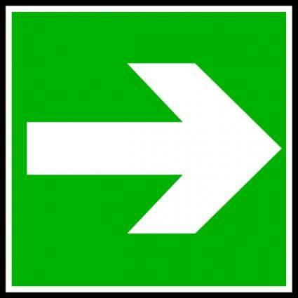 White Arrow In A Green Rectangle clip art