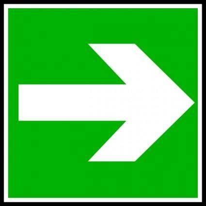 free vector White Arrow In A Green Rectangle clip art