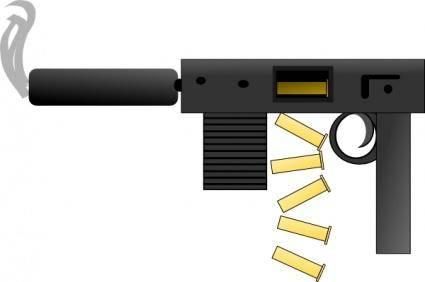 Automatic Gun clip art