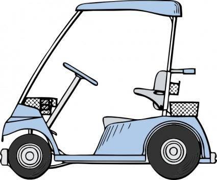 free vector Golf Cart clip art