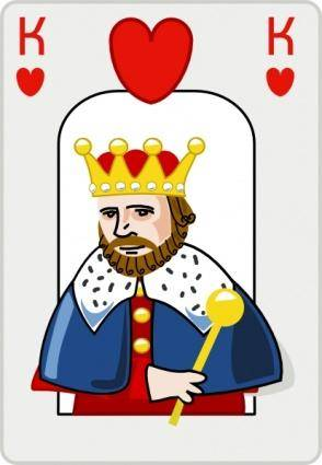 free vector King Of Hearts clip art