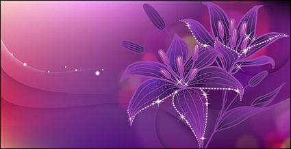 free vector Dreams of the lily in full bloom