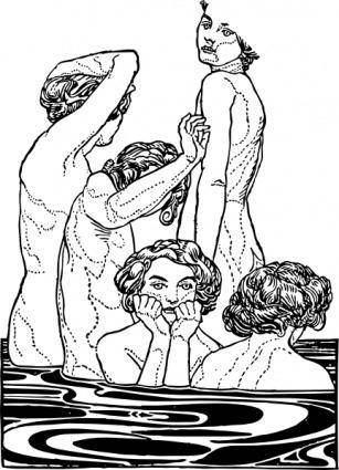 Bathers clip art