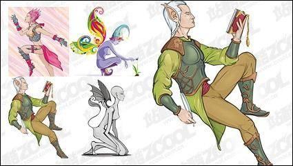 free vector Wizard People vector material