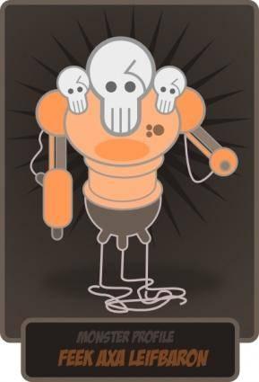 Kablam Monster clip art
