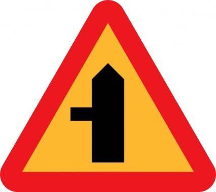 Road Intersection Sign clip art