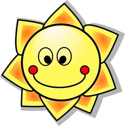 free vector Smiling Cartoon Sun clip art