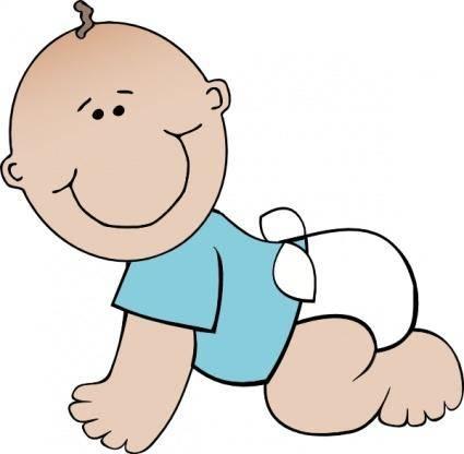 Baby Boy Crawling clip art