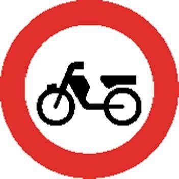 Bike area Sign Board Vector