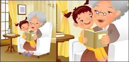 free vector IClickart Cartoon Family illustrator vector material -11
