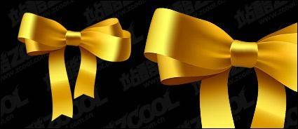 free vector Gold Ribbon Bow vector material