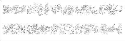 Flower type of line drawing vector diagram-2