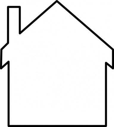 House Silhouette clip art