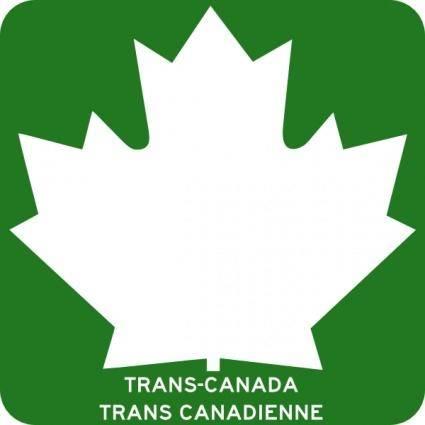 Trans Canada Highway clip art