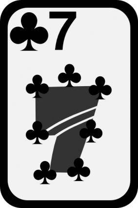 free vector Seven Of Clubs clip art