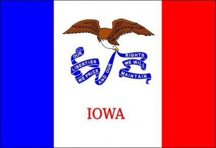 Us Iowa Flag clip art