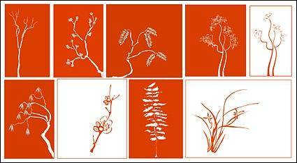 free vector Vector classical plant material