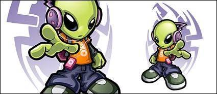 free vector Cool aliens Vector