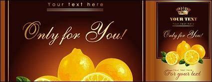 free vector Lemon posters vector material