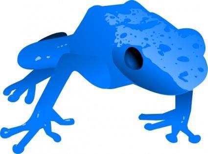 Endangered Blue Poison Dart Frog clip art