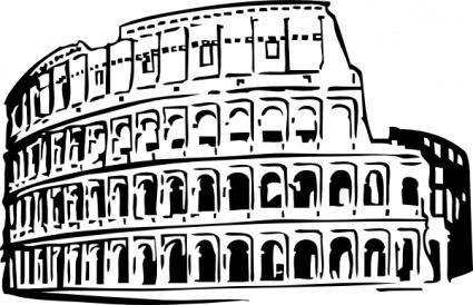 free vector Roman Coliseum clip art