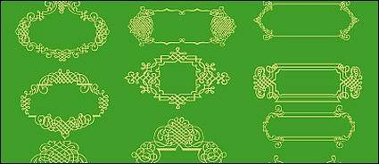 free vector Series of exquisite lace-1